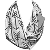 Shop Pop Fashion - Arrow Pattern Infinity Scarf with Hidden Zipper Pocket to store Phone, Keys, and Wallet
