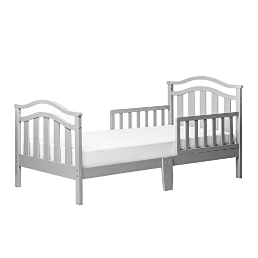 Dream On Me Elora Collection Toddler Bed, Cool Gray