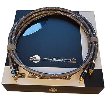 Jib High End HiFi Cable de señal Single RCA to RCA macho RCA a masculinos RCA Audio Cable fabricado en Alemania HF de aa5001 a: Amazon.es: Electrónica