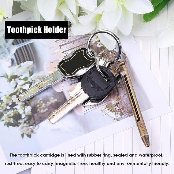 Portable Titanium Alloy Multifunction Spring Telescopic Toothpick Cartridge Tool