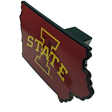 AMG Auto Emblems NCAA Solid Metal Custom Shaped Hitch Cover (Iowa State)