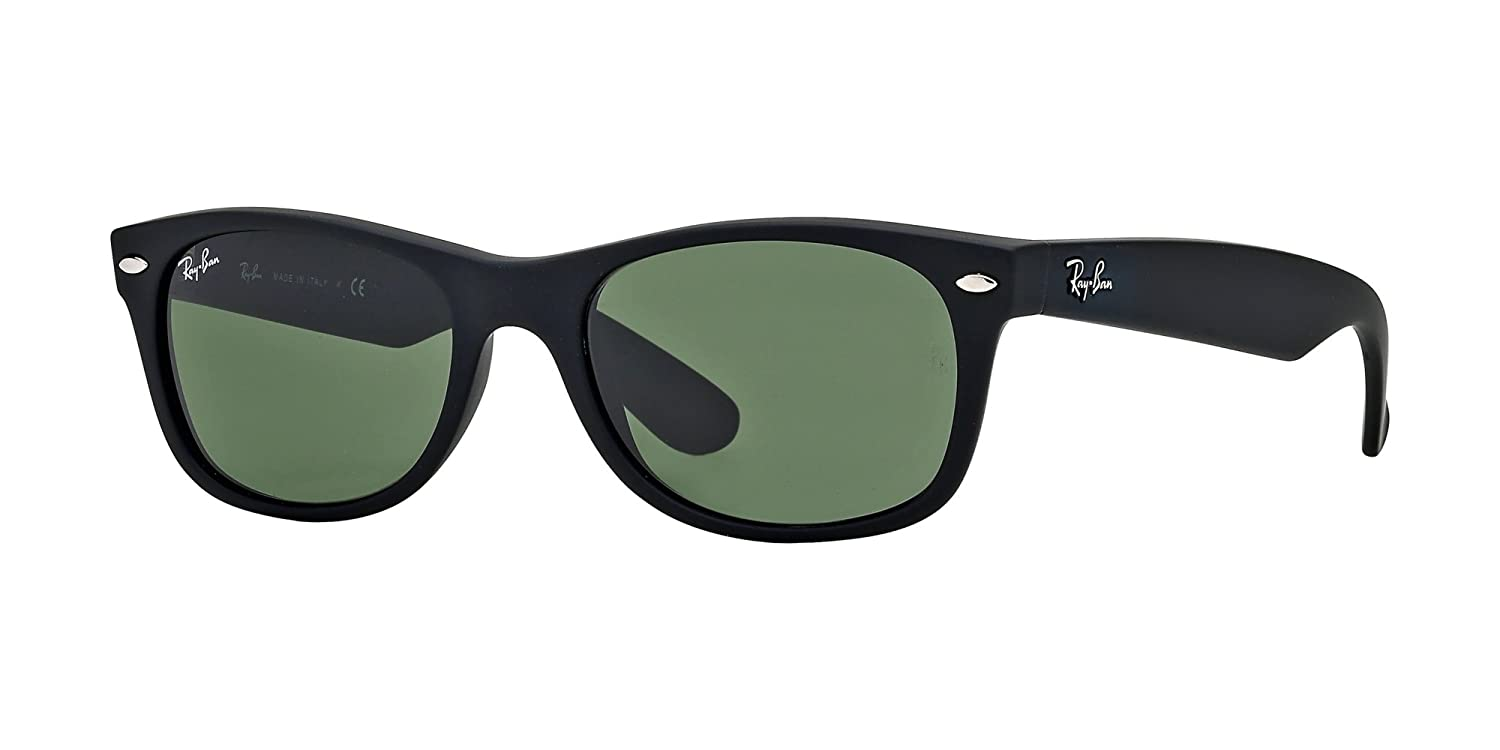 553d4e921de Amazon.com  Ray Ban RB2132 622 52M Black Rubber Green+FREE Complimentary  Eyewear Care Kit  Shoes