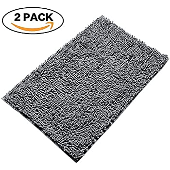 Amazon Com Non Slip Super Soft Microfiber Shag Bath Rug