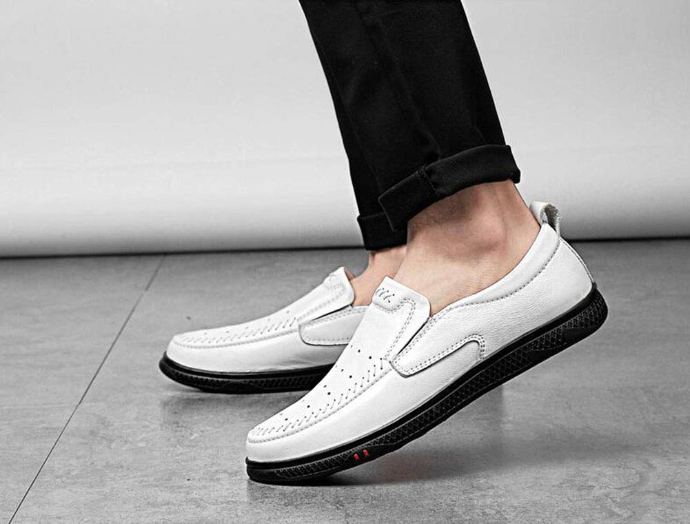 Hy Mens Casual schuhe, 2019 2019 2019 Frühjahr Neue Formal-Business-Schuhe, Hollow-Out, Mens Comfort Breathable Driving schuhe, Loafers & Slip-Ons,Weißhollow,45 abfc11