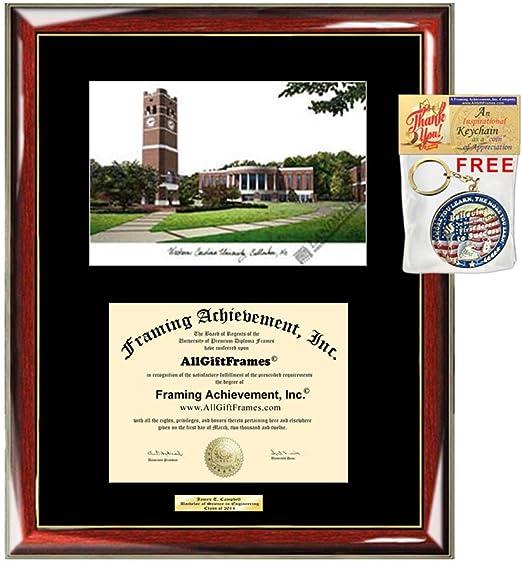 Western Carolina University Diploma Frame Wcu Lithograph Degree Framing Certificate Holder Certificate Case Frames Plaque Graduation Gift Clothing Amazon Com