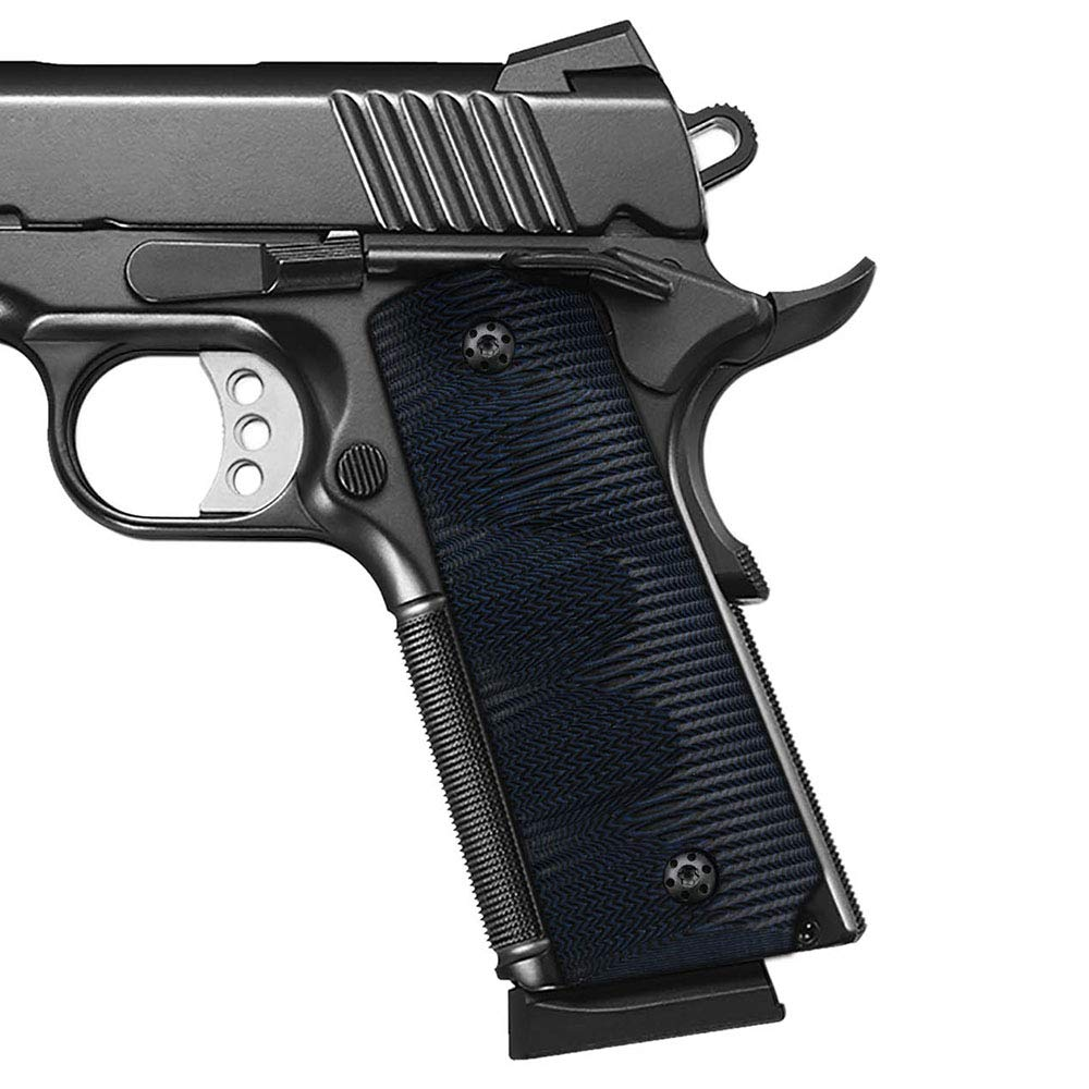 Cool Hand 1911 Full Size G10 Grips, Screws Included, for Left and Right Handed, Ambi Safety Cut (Navy) by Cool Hand