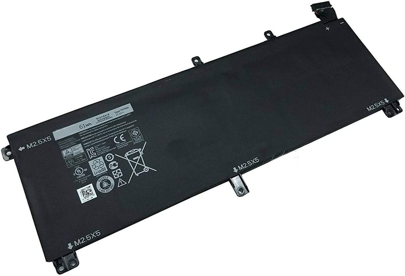 Fully T0TRM Replacement Laptop Battery for Dell XPS 15 9530 Precision M3800 H76MV 7D1WJ 245RR 6cell - 11.1V 61WH