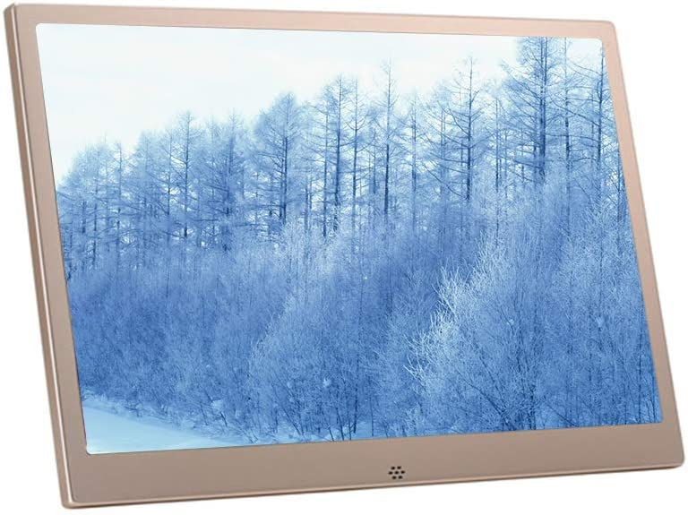 15-inch Aluminum Alloy Ultra-Thin Narrow-Edge HD 1080P Digital Photo Frame Advertising Machine Player USB and SD Card Slot and Remote Control