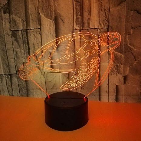 gráficos luz luz WCZ La visual de lámpara de tortuga LED 8nwX0PkO