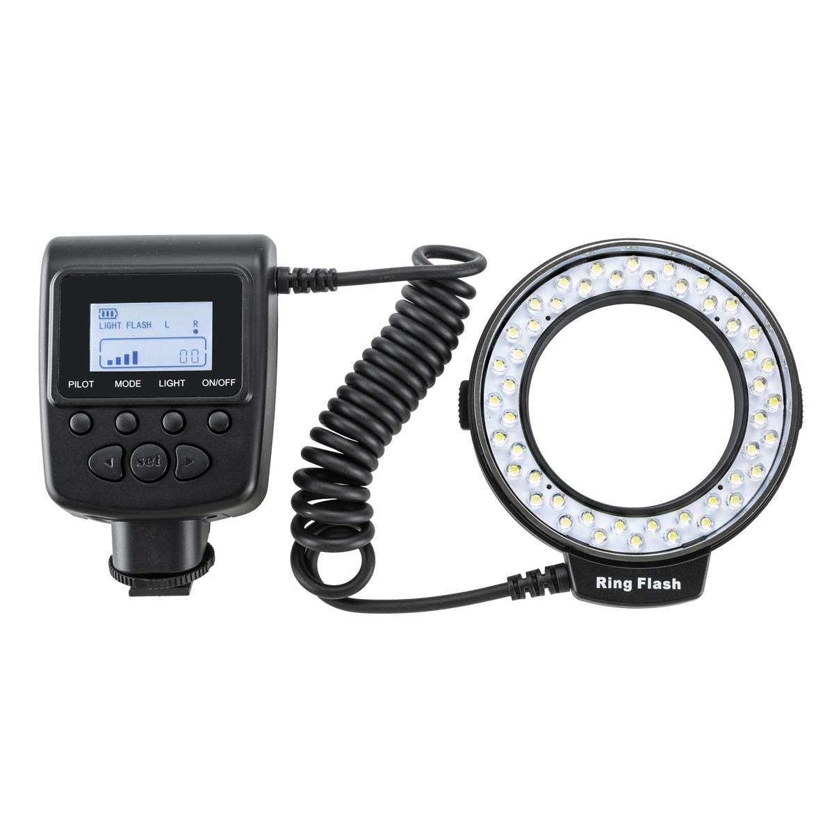 Flashpoint Macro LED Ring Flash VL-48 Bundle with Adapters for 49, 52, 55, 58, 62, 67, 72, and 77mm Diameter Lenses. by Flashpoint