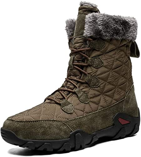 Giles Jones Hiking Boots for Men Winter Keep Warm Comfort Non-Slip Climbing Boots