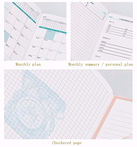GQQ Organizador De Calendario Planificador Diario Personal ...