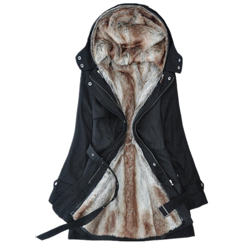 Oyvind Norberg Frauen-Verdickungplüsch Liner Abnehmbare Cotton Bekleidung Jacket