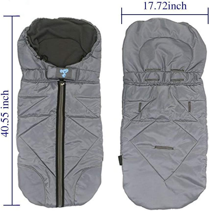 LEMONDA Winter Outdoor Tour Waterproof Stroller Bunting Bag Warm Footmuff Sack,Anti-kicking to Protect from Cold and Winter Weather