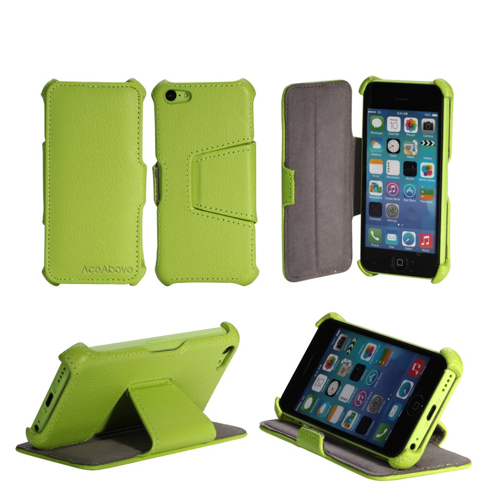wholesale dealer ad97f f18a9 AceAbove iPhone 5c Case - Protective Stand Case for Apple iPhone 5C (Apple  Green)