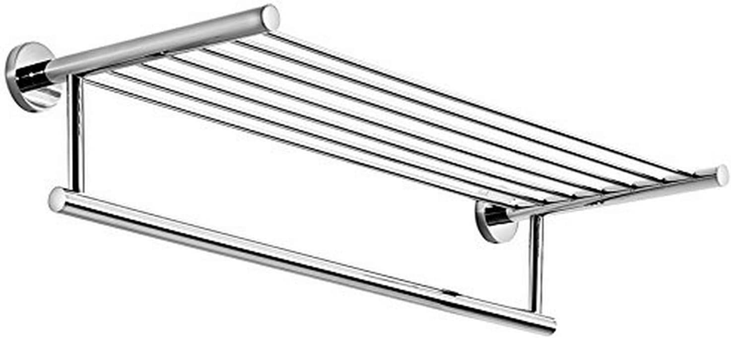 Ws Bath Collections Spritz Collection Self Adhesive Wall Mount Rack With Towel Bar 24 4 Polished Chrome Home Kitchen