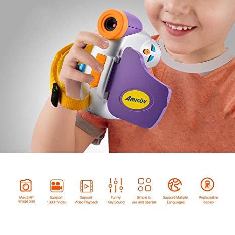 Amazon.com : amkov dv-c7 1080p Children Kids Digital Video Camera 1.44