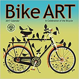 bike art 2017 mini wall calendar in celebration of the bicycle