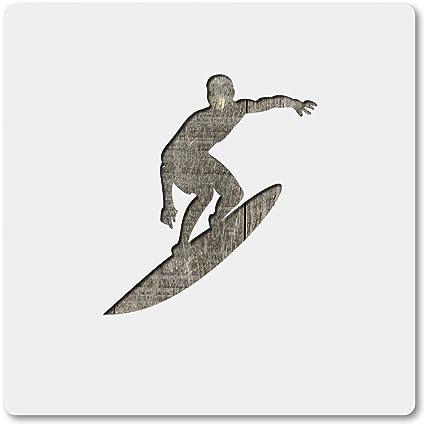 Template Reusable 10 mil Mylar Surfer Stencil