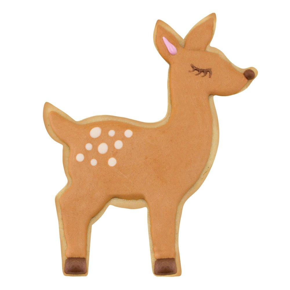 Woodland Cookie Cutters - 5 Piece Boxed Set - Cute Fox, Cute Owl, Deer/Fawn, Mushroom, Hedgehog - Ann Clark - US Tin Plated Steel by Ann Clark Cookie Cutters (Image #4)