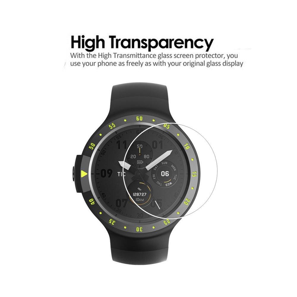 2pack) ticwatch e Protector de pantalla, cobertura total 9H Dureza ...