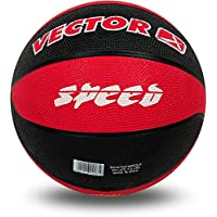 Vector X BB-Speed Basketball, Adult Size 5 (Red/Black)