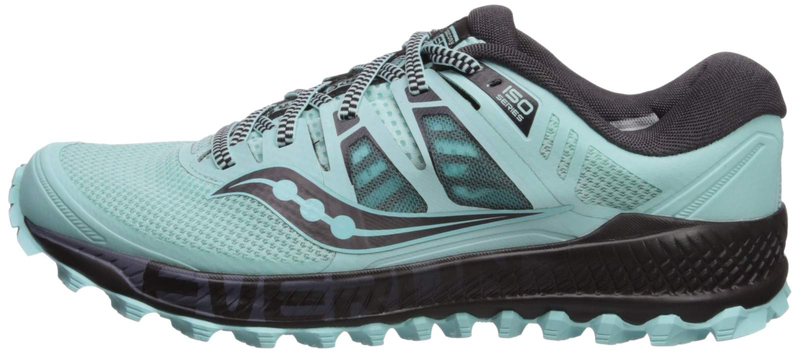 Saucony Women's Peregrine ISO Trail Running Shoe, Aqua/Grey, 5 M US by Saucony (Image #5)