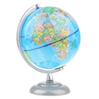 HOMYL 20cm Metal Base & Bracket ABS Blue Ocean Earth Globe World Map Home/Office Decor Students Teaching Tool