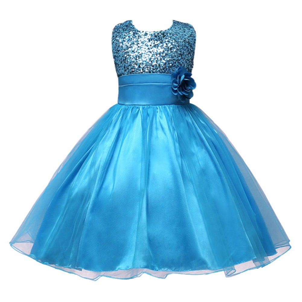ESHOO Summer Baby Girls Birthday Wedding Party Princess Dress