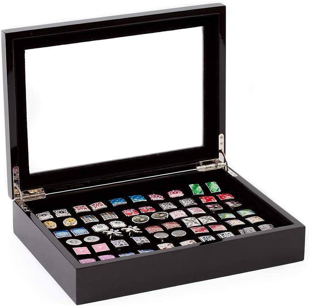 Caja de Coleccionista de Gemelos 36 pares Color Negro Expositor ...