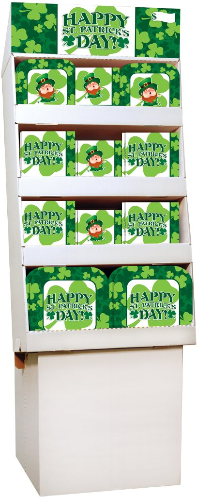 DDI 2133170 St. Patricks Day Party Supply Floor Display - 156 Count by DDI