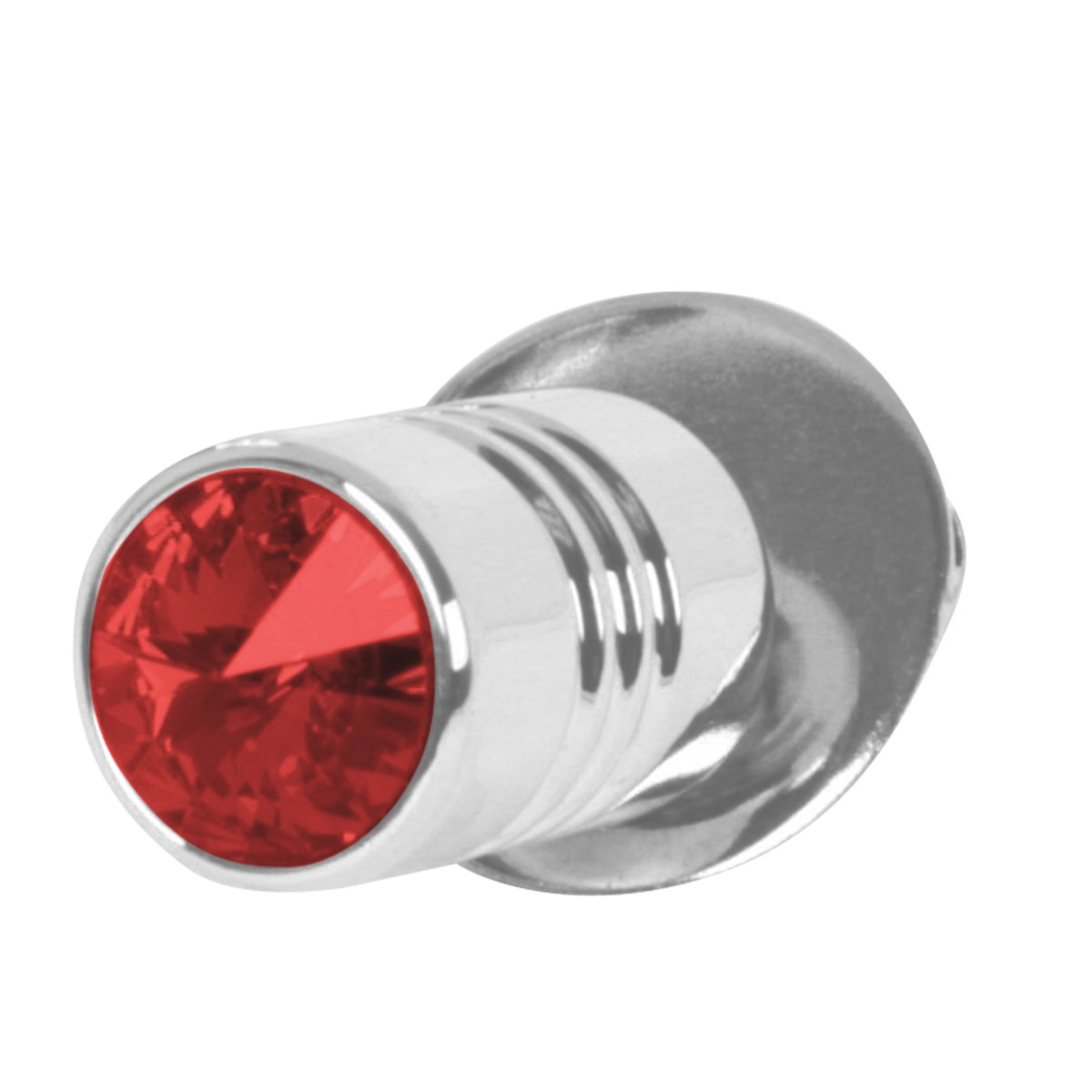 Grand General 50855 Chrome Aluminum License Plate Fastener with Red Crystal