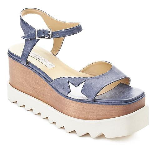 42487328c42 Stella McCartney Women s Leather Indium Elyse Star Sandal Shoes Blue   Amazon.co.uk  Shoes   Bags