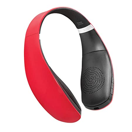 Leme EB30A Wireless Bluetooth Headsets with Microphone (Red) Bluetooth Headsets at amazon