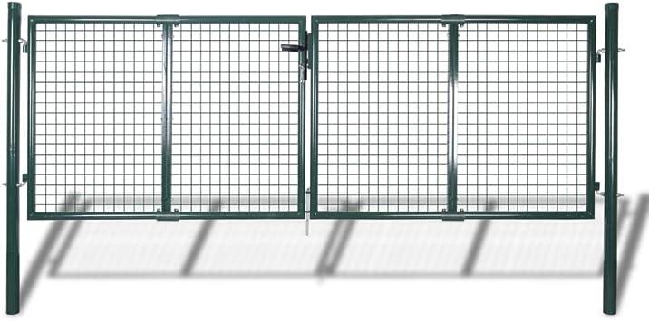 Puerta de Malla de Jardín Para Cercar Verja de Pared 300 x 75 cm / 315 x 125 cm: Amazon.es: Hogar