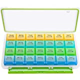 BUG HULL Monthly Pill Organizer, 4 Weeks Moisture-Proof Pill Box for Travel, 28 Day Pill Case, Medicine Organizer for…