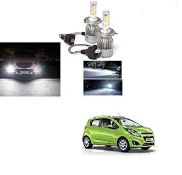 Kozdiko C6 Led Car All In One Light Bulb 50w Led Car Headlight Conversion Kit For Cars 6000k White For Chevrolet Beat Amazon In Car Motorbike