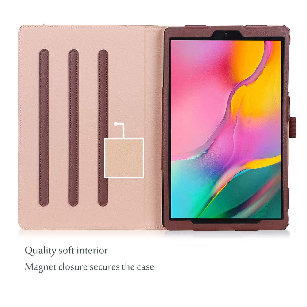 Gold ProCase H/ülle mit Stifthalter und Kartenfach f/ür Galaxy Tab A 10.1 Zoll 2019 T510//T515//T517 Schutzh/ülle,PU-Lederh/ülle St/änder Klapph/ülle Folio Case Cover mit Procase-Stylus Pen