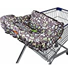 Masmuki Shopping Cart Cover with Toy Loops, Teether and Stroller Hooks (5 Items)