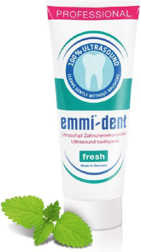 Emmi-dent Ultrasonic Toothpaste with Nano-Bubbles - Ultrasonic Tooth Cleaner. Cleans with Ultrasound Technology and Nano-Sized Bubbles. 2.5 oz (Fresh, 1 Pack)