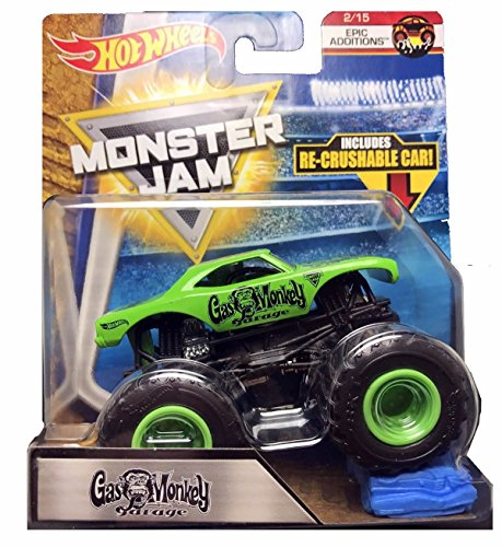 Hot Wheels 2018 Monster Jam Epic Additions 2/15 - Gas Monkey Garage (Includes Re-Crushable Car) for $<!--$9.95-->