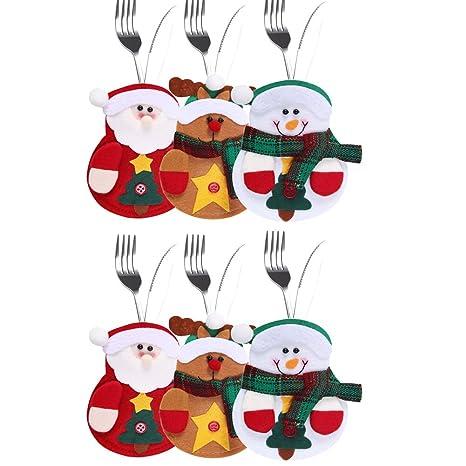 laemilia 6pcs cocina cubiertos traje fiesta de Navidad bolsa ...