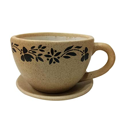 5708ebe9f80 Image Unavailable. Image not available for. Color: Flower Vase Cup & Plate  Shape Ceramic ...