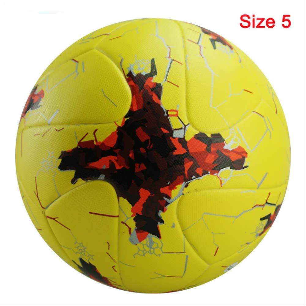 zuq Balón de fútbol Profesional, tamaño 4, Color Rojo, Amarillo ...