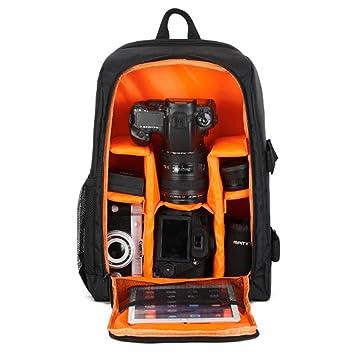 85a6535abd26 Camera Backpack, AOLVO DSLR Camera Bag Large Capacity Multi-Purpose SLR  Camera Backpack for Cameras, Laptops, Mirrorless Cameras,Lens, Flashes and  ...