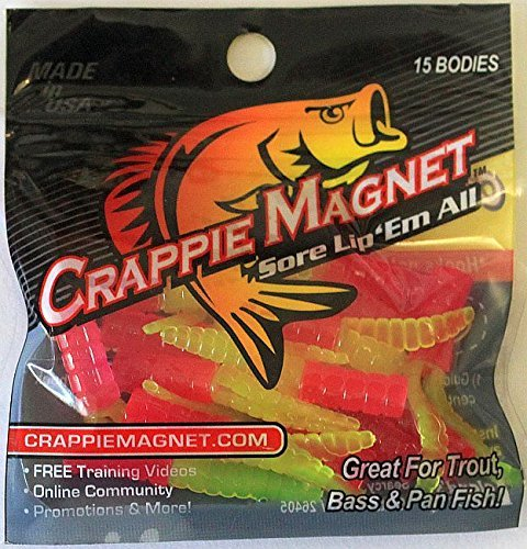 Lelands Lures Glow Org/Chart Crappie Magnets (15-Pack), 1 ()