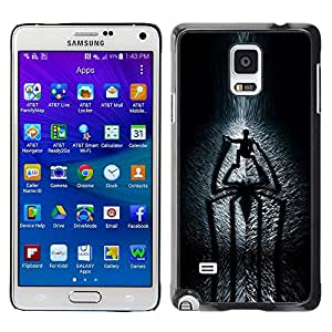 Design for Girls Plastic Cover Case FOR Samsung Galaxy Note 4 Spider Shadow OBBA