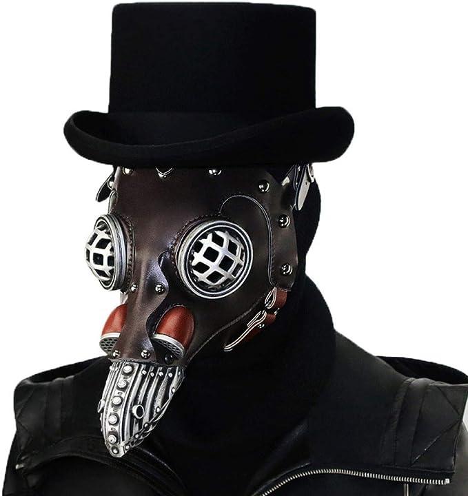 YUANZHOU Doctor De La Peste Máscara Disfraz De Cosplay Máscara ...