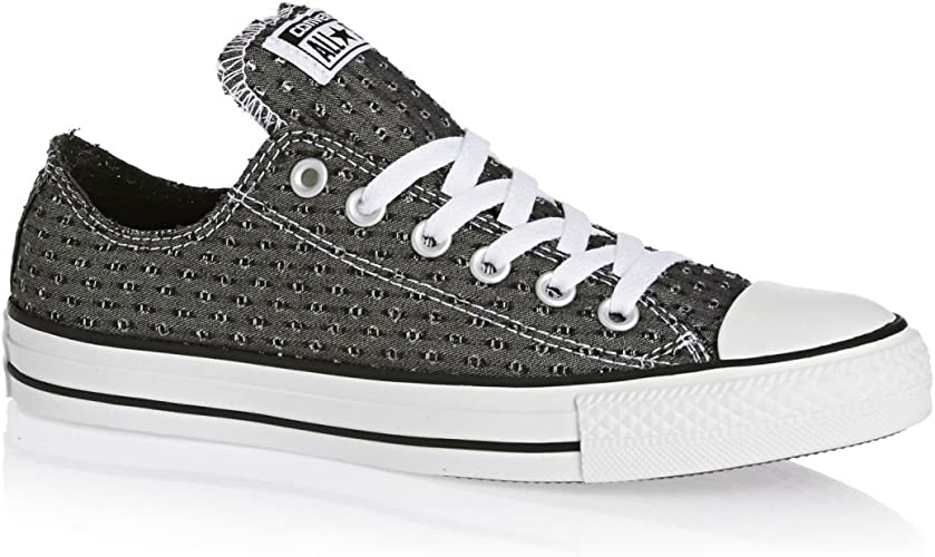 Converse All Star Ox Femme Baskets Mode Noir: Amazon.fr ...