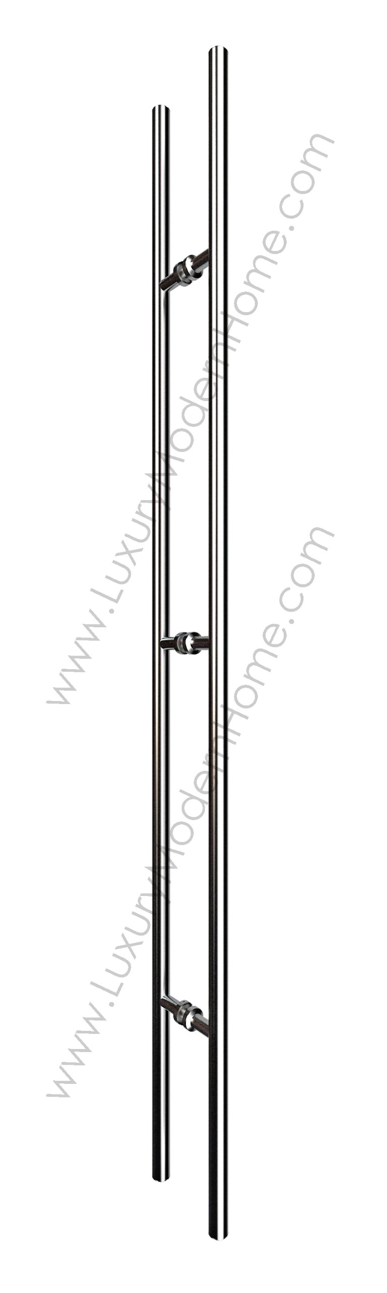 dh 60'' Ladder Style Pull Shower Handle - Wood Glass Door Stainless Steel 304 Modern Contemporary